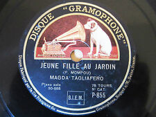 78rpm MAGDA TAGLIAFERRO (Piano) plays MOMPOU - ORIG. French Disque Gramophone