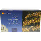 288 WARM WHITE INDOOR OUTDOOR CLUSTER CHASER ULTRA BRIGHT CHRISTMAS XMAS LIGHTS