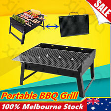 Portable Foldable Notebook BBQ Outdoor Camping Picnic Barbecue Charcoal Grill OZ
