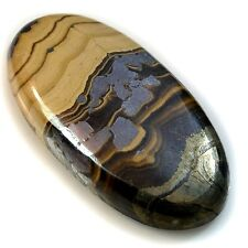 74Ct Natural Schalenblende & Galena (36mm X 18mm) Cabochon