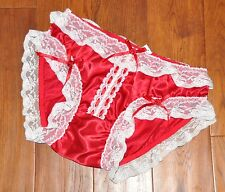 JOL 1 193 - Soft silky satin French Maid panties/knickers, BN, XL, red
