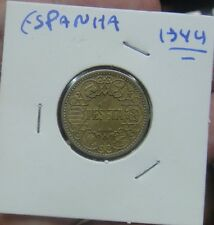 649# SPANIEN SPAIN - 1 PESETA 1944 KM#767 RARE IN THIS GRADE
