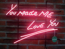 """New You Made Me Love You Larger Bar Neon Sign Gifts Wall Decor Art 24""""x20"""""""
