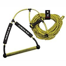 Airhead Wakeboard Tow Rope w/Phat Grip Trick Handle  ahwr-1 Yellow Low Stretch