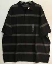 Polo Ralph Lauren Big and Tall Mens Black Gray Striped Polo Shirt NWT XLT XLarge