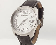 Orefici Classico ORM8C4402 Stainless Steel 45mm Black Leather Watch