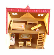 SYLVANIAN FAMILIES House Playset with furniture & accessories lot set NICE!""