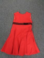 NEIMAN MARCUS HELENA Red And Black Sleeveless Belted Dress Size 7 SM7711
