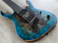 Mayones Duvell Elite VF 7 Guitar 7-String V Frets Ebony Board Black Blue Burst