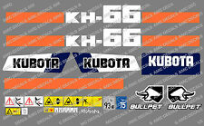 KUBOTA KH66 MINI DIGGER COMPLETE DECAL STICKER SET WITH SAFETY WARNING SIGNS