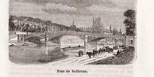 75 PARIS PONT DE SOLFERINO PETITE IMAGE 1877 PRINT
