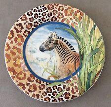"""Gien, France """"Savane"""" Creation D.L. Dessert Plate  6 5/8"""" Dishwasher Safe"""