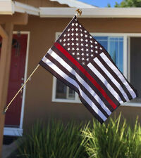 Subdued Thin Red Line American 3' x 5' Poly Flag