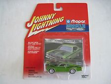 Johnny White Lightning 1971 Plymouth Duster 340 Mopar Muscle Green Diecast