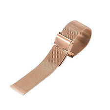 Fashion 12mm-24mm Stainless Steel Mesh Bracelet Watch Band Replacement Strap