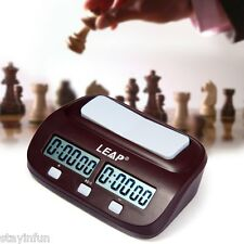 Digital Chess Clock I-go Count Up Down Timer Electronic Board Game Competition