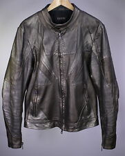 * GUCCI * Tom Ford Era Metallic Silver Leather Biker Moto Jacket 40/Medium