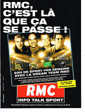 PUBLICITE ADVERTISING 114  2008  RMC radio  INFO TALK SPORT  MOSCATO