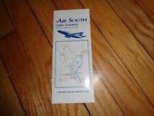 September 6 1995 Air South Flight Schedule Timetable