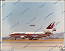"""PHILIPPINE AIRLINES DC-10 PH-DTI, ORIGINAL PERIOD KLM NUMBERED PHOTO 8""""x10"""" (a)"""