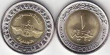 25 EGYPTIAN POUND, KING TUT, ROLL New  COINS BI-METALLIC Suez Canal UNC