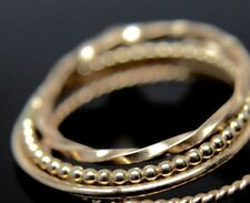 14k yellow gold 3 stackable rings size 4.25 $255