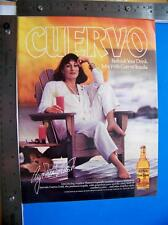 1987 Cuervo Tequila  Print Ad  with Anjelica Huston  Advertisment