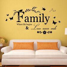wall sticker adesivi murali da parete muro scritta frasi famiglia family