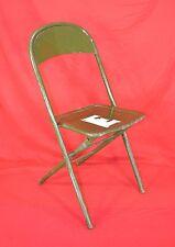 WW 2, U.S. Metal Folding Chair with Engineer Corps Insignia