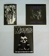 THE MISFITS 3 Pack of Stickers Eyeball, Wolfs Blood & Fear NEW Official Rare