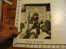 Vintage MARIONETTE Photo: STAGE: PUNCH & JUDY--party puppets