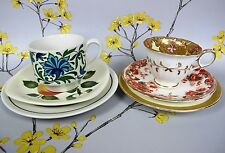Vintage China Mix Match Mismatched Tea Cup Saucer Plate Trio x 2 Pair. Good No10