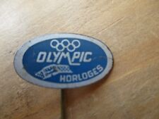 VINTAGE  OLYMPIC   WATCH PIN,,,,HORLOGES  1960s dutch