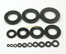 40 Pieces M20 x 36 x 3.0mm Black Nylon Flat Washer Insulation Washer
