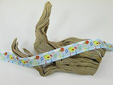 "2 Yards 7/8"" Printed Cute Birds Musical Notes Grosgrain Ribbon Scrapbooking Lisa"