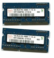APPLE HYNIX 2GB DDR3 SDRAM RAM PC3-8500 (2x1GB) LAPTOP SO-DIMM MEMORY CHIPS