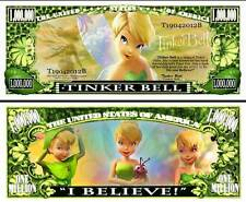 LA FEE CLOCHETTE - BILLET 1 MILLION DOLLAR US ! PETER PAN Walt Disney Tinkerbell