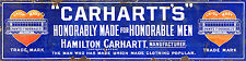 CARHARTT'S VINTAGE METAL SIGN