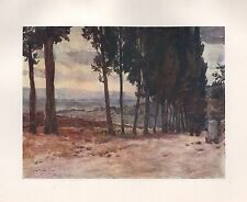 1905 FLORENCE ITALY ANTIQUE  PRINT : ON THE OLD ROAD TO FIESOLE