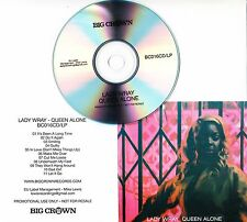 LADY WRAY Queen Alone 2016 UK 11-track promo test CD