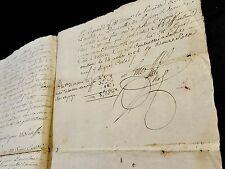 ANTIQUE MANUSCRIPT  1786