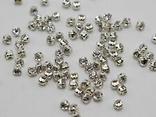 288 Silver Clear Crystal Glass Rose Montees 3mm SS12 Sew on Rhinestones Beads