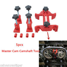 Professional 5pc Dual Cam Camshaft Tool Engine Timing Sprocket Gear Locking Tool