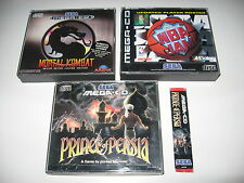 Bundle Mortal Kombat + NBA JAM + PRINCE OF PERSIA Sega MegaCD PAL Mega CD RARE