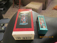 """Hallmark - Keepsake Ornament  1993  """"ROOM FOR ONE MORE""""  Telephone Booth  No Res"""