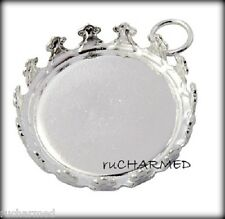 6 RounD Cabochon Setting with Glass Domes Photo Jewelry Making Bracelet Necklace