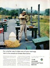 1962 Chase Manhattan Bank Competition Shooter with Target Rifle  PRINT AD