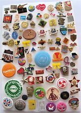 JUST 94 PINS LOT:OLYMPIC-POLITICAL.-SPORT-EXHIBITIONS-COMPANIES-FLAGS-VOLUNTEER