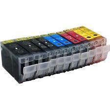 10 Tintenpatronen für Canon MP 780 ohne Chip