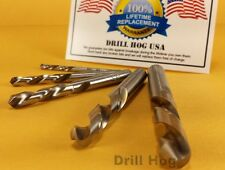 Drill Hog 5 Pc Left Handed Drill Bit Set Left Hand Drills Lifetime Warranty USA